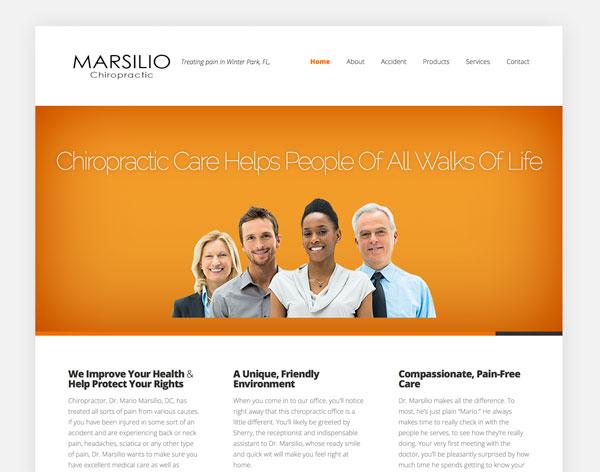 Marsilio Chiropractic Website
