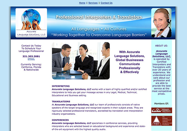 Accurate Language Solutions Website