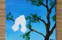 Love Birds Mini Acrylic