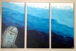 Dolphin Hello Triptych